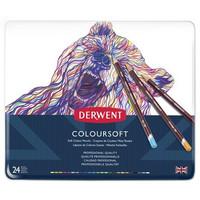 Derwent Coloursoft -värikynät, 24 kpl