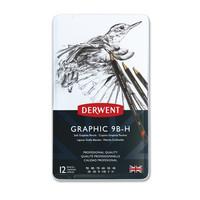 Lyijykynäsetti Derwent Graphic 9B-H 12 kynää