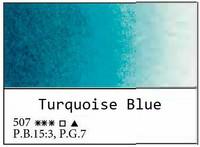 White Nights akvarellinappi 507 Turquoise blue