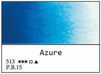 White Nights akvarellinappi 513 Blue (Azure)