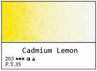 White Nights akvarellinappi 203 Cadmium lemon
