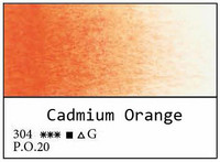 White Nights akvarellinappi 304 Cadmium orange