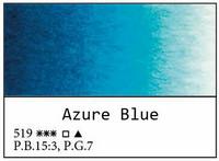 White Nights akvarellinappi 519 Azure blue
