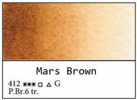 White Nights akvarellinappi 412 Mars brown