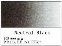 White Nights akvarellinappi 805 Neutral black