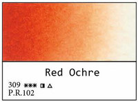 White Nights akvarellinappi 309 Red ochre