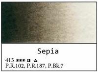 White Nights akvarellinappi 413 Sepia