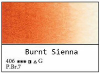 White Nights akvarellinappi 406 Burnt sienna
