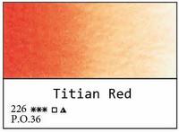 White Nights akvarellinappi 226 Titian red