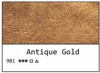 Sonnet akvarellinappi 981 Antique gold
