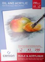 Akryyli ja öljymaalauspaperi 290g A3