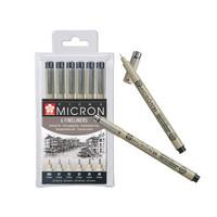 Sakura Pigma Micron ohutkärkiset kynät 6kpl