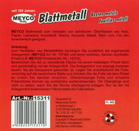 Lehtimetalli, hopea 140x140mm Meyco 10kpl