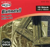 Lehtimetalli, kulta 140x140mm 10kpl Meyco