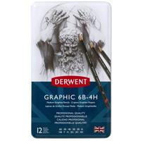 Lyijykynäsetti Derwent Graphic 6B-4H 12 kynää