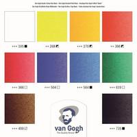 Akryylivärit + tarvikkeet puusalkussa Van Gogh