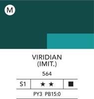 L&B Flashe Acrylic 80ml 564 Viridian Hue