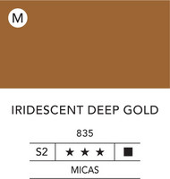 L&B Flashe Acrylic 80ml 835 Deep Gold Iridescent