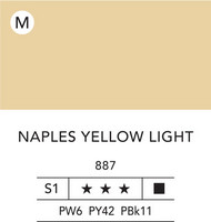 L&B Flashe Acrylic 80ml 887 Naples Yellow Light
