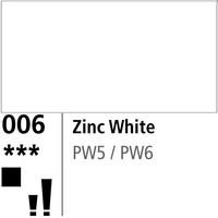 DR Aquafine Gouache 006 15ml Zinc White