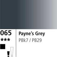 DR Aquafine Gouache 065 15ml Paynes Grey