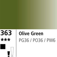 DR Aquafine Gouache 363 15ml Olive Green