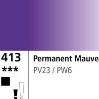 DR Aquafine Gouache 413 15ml Permanent Mauve