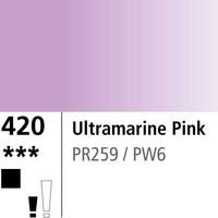 DR Aquafine Gouache 420 15ml Ultramarine Pink