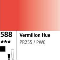 DR Aquafine Gouache 588 15ml Vermilion Hue
