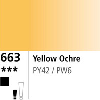DR Aquafine Gouache 663 15ml Yellow Ochre