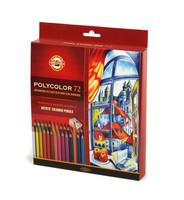 Paketti puuväreillä piirtävälle. 72 kynää ja 3 lehtiötä