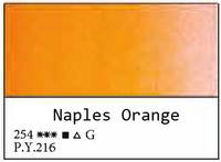 White Nights akvarellinappi 254 Naples Orange