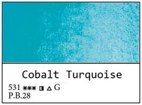 White Nights akvarellinappi 531 Cobalt Turquoise