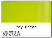 White Nights akvarellinappi 745 May Green