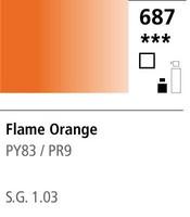 FW Acrylic ink 29,5ml 687 Flame orange