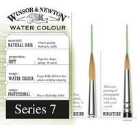 W&N Series 7 näädänkarva Miniature No 3
