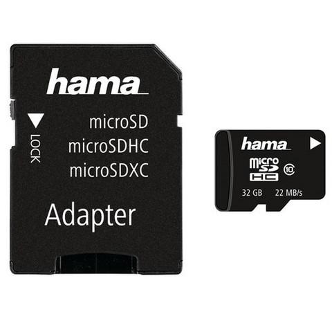 Muistikortti microSD 32GB + SD-adapteri