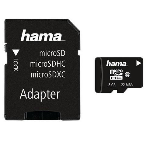 Muistikortti microSD 8GB + SD-adapteri