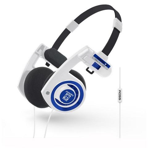 KOSS Porta Pro 3.0 Remote On-Ear Mic White Blueberry