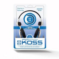 KOSS Porta Pro 3.0 Remote On-Ear Mic White Blueberry