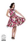 Audrey 50s Cream Flower Swing Dress