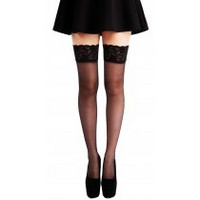 Lace Top Hold-Ups-Black