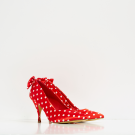 Claudette Red Polka