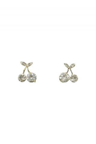 Diamante Cherry Stud Earrings