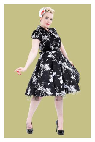 Imitation Floral Tea Dress Plus