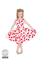 White Bombshell Cherry Swing Dress, lasten kellomekko