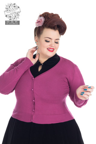 Wine Cardigan (Plus Size)