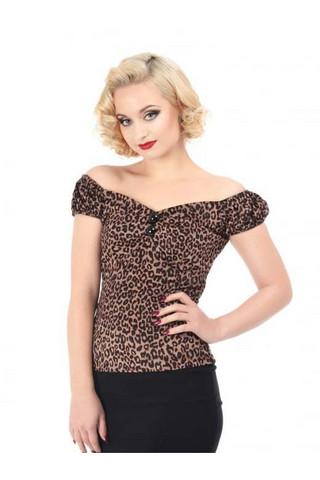 Dolores Leopard Velvet Top