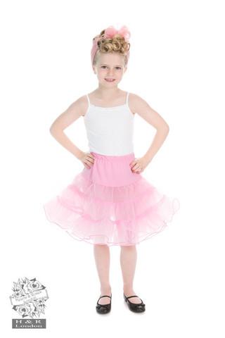 Kids Petticoat in Pink, lasten tyllialushame