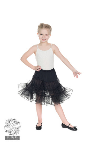 Kids Petticoat In Black